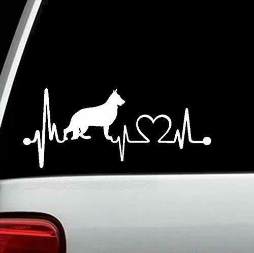 K1001 german shepherd heartbeat dog decal sticker auto for Window in german