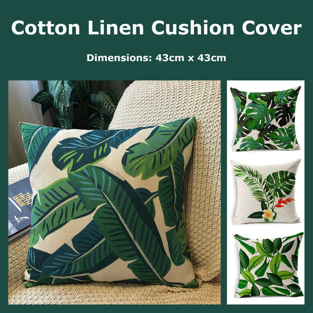 Boho African Style Natural Linen Cushion Cover Home Decor