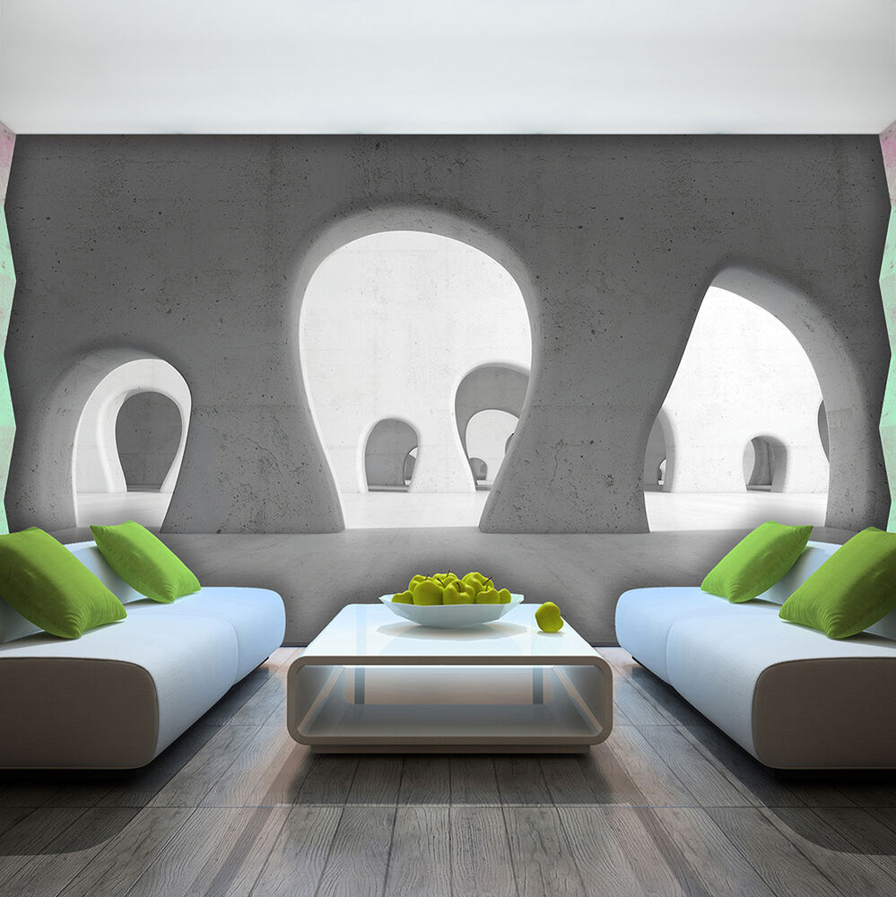vlies wandbild tapeten fototapete tapete tunnel 3d fenster blick weiss 3fx2805ve ebay. Black Bedroom Furniture Sets. Home Design Ideas