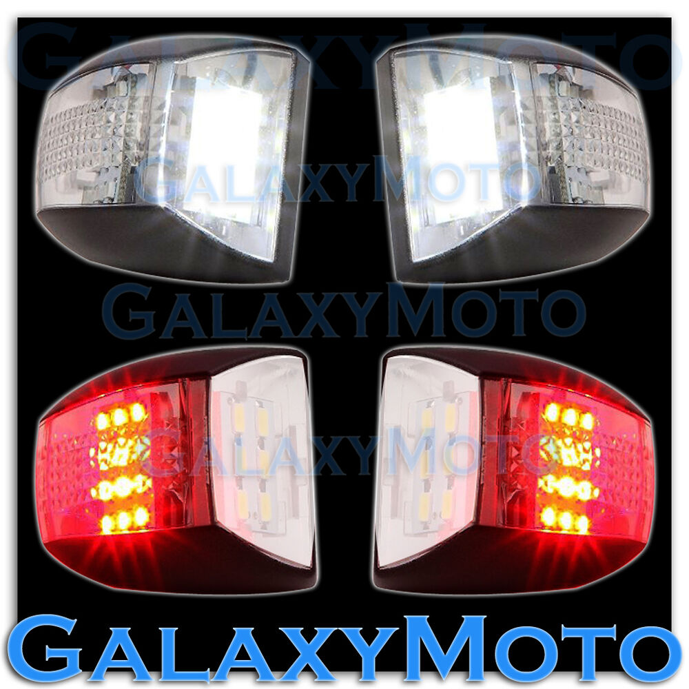 01 13 Chevy Silverado White Led License Plate Red Led Rear