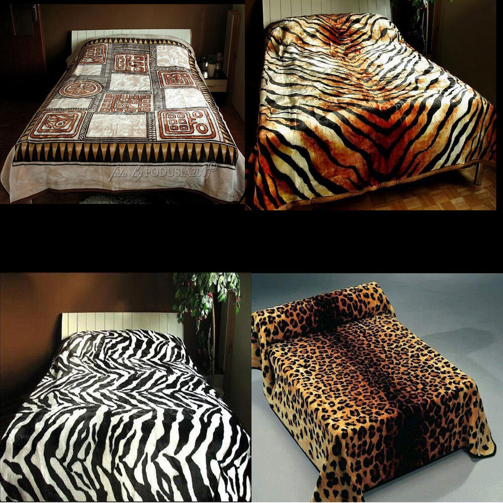 dicke kuscheldecke wohndecke bett berwurf tagesdecke fell zebra leopard tiger ebay. Black Bedroom Furniture Sets. Home Design Ideas