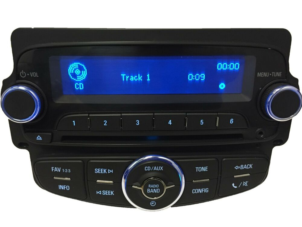 chevy sonic oem radio stereo am fm aux xm mp3 usb cd player uh7 wireless phone ebay. Black Bedroom Furniture Sets. Home Design Ideas
