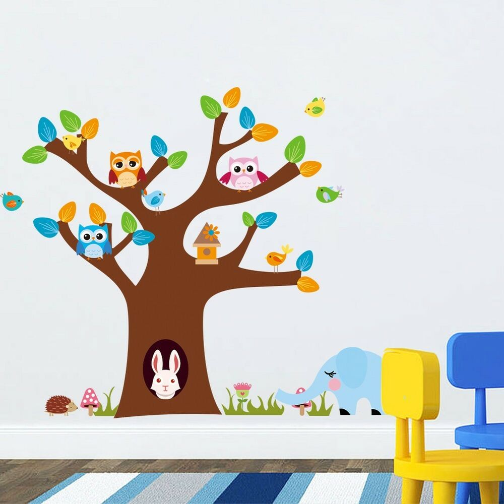 wandtattoo wandsticker sticker tiere kinder aufkleber affe kinderzimmer baum xxl ebay. Black Bedroom Furniture Sets. Home Design Ideas