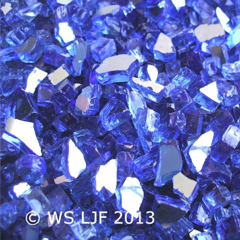 10 LBS 1 4 Cobalt Blue Reflective Fireglass Fireplace