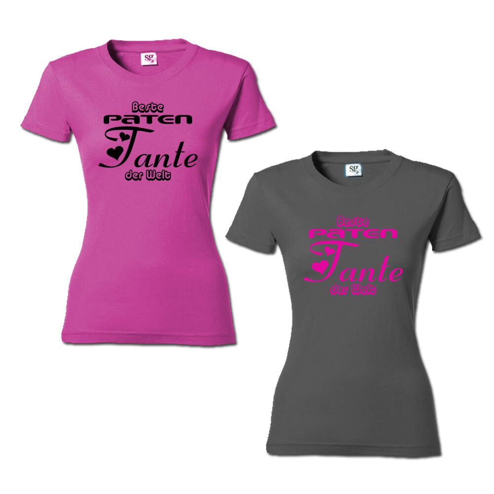 beste paten tante der welt t shirt damen shirt geschenk. Black Bedroom Furniture Sets. Home Design Ideas