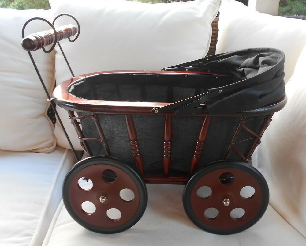 Reproduction victorian style doll carriage ebay for Carriage style
