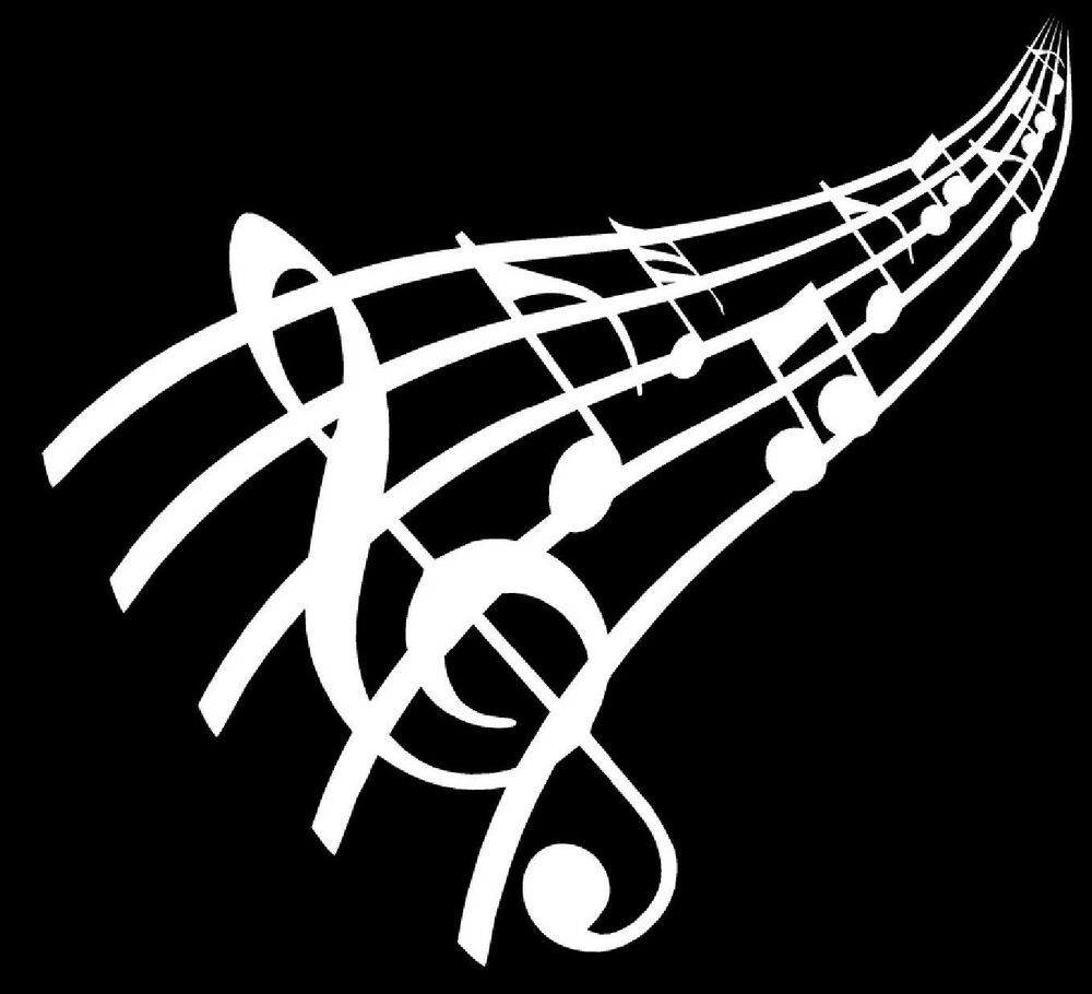 Vinyl Window Decals : Music notes vinyl decal sticker car window wall bumper