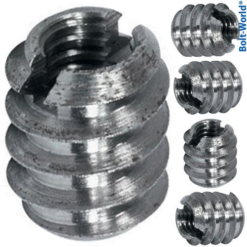 M threaded insert screws in sleeve bushing