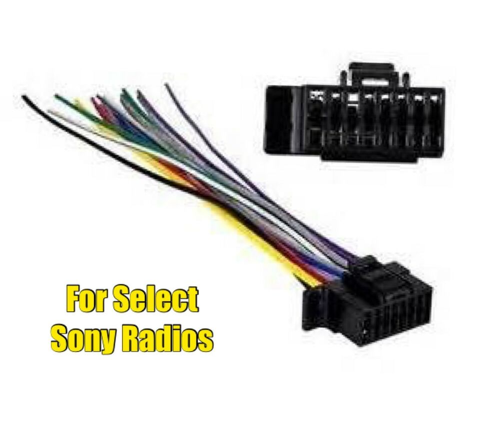 Wiring Harness Sony Car Stereo : Car stereo radio replacement wire harness plug for select