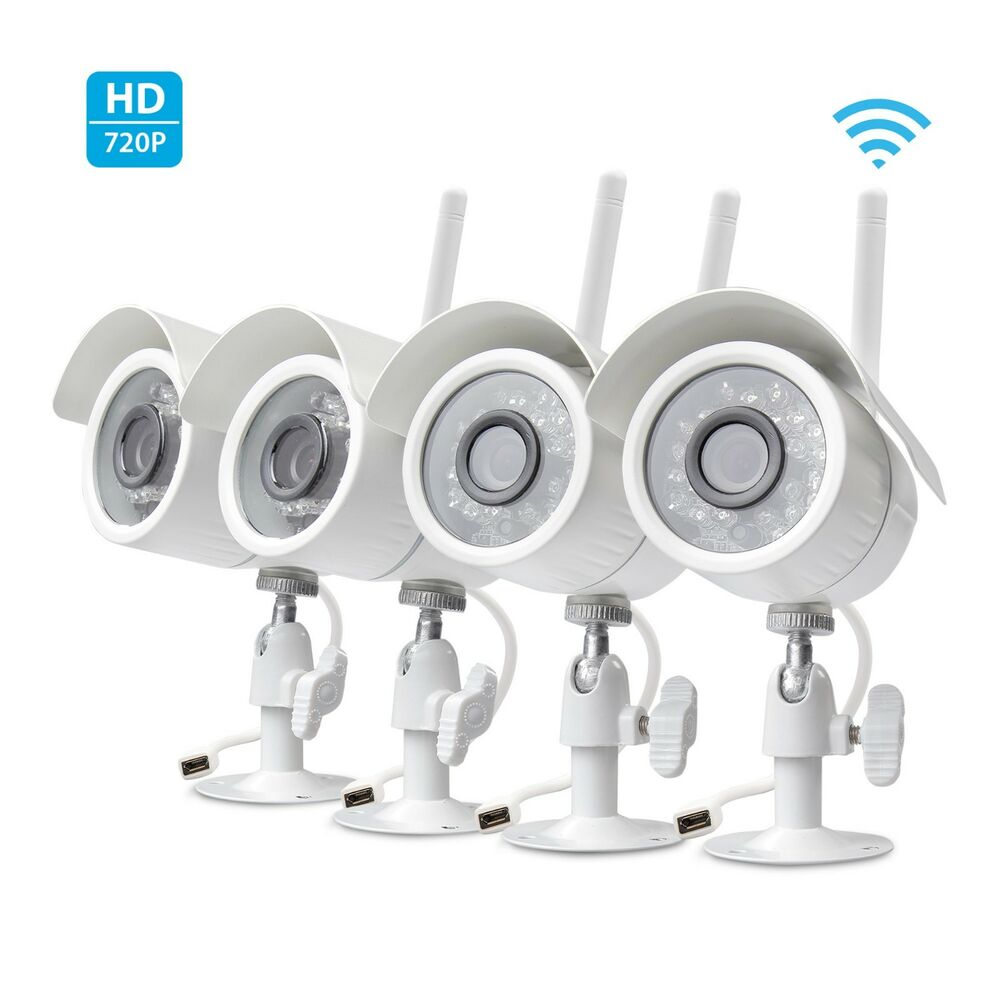 Zmodo Wireless Security Camera System (4 pack) Smart HD Outdoor WiFi IP Cameras | eBay