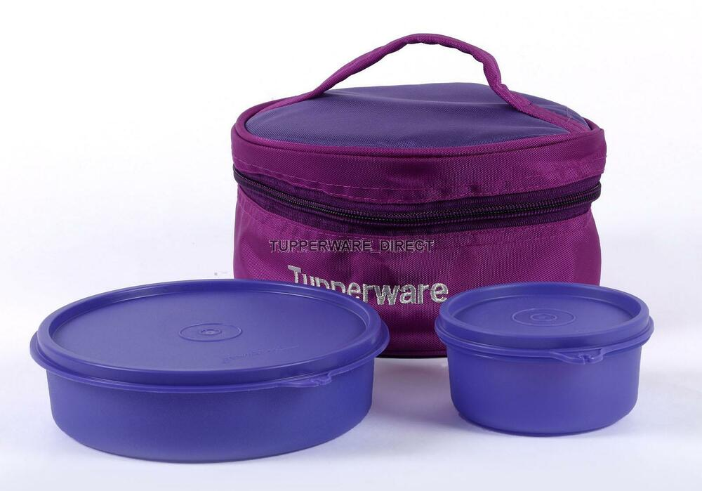 tupperware classic lunch box with insulated bag lunch box purple ebay. Black Bedroom Furniture Sets. Home Design Ideas