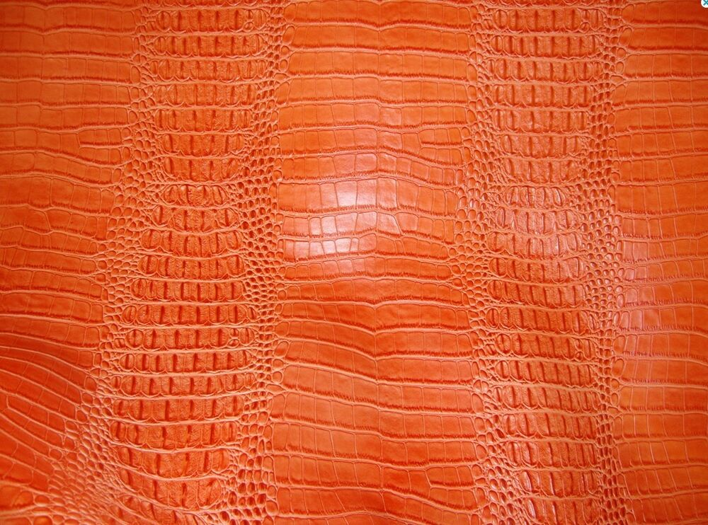 Vinyl faux fake leather fabric upholstery crocodile nile for Fake leather upholstery