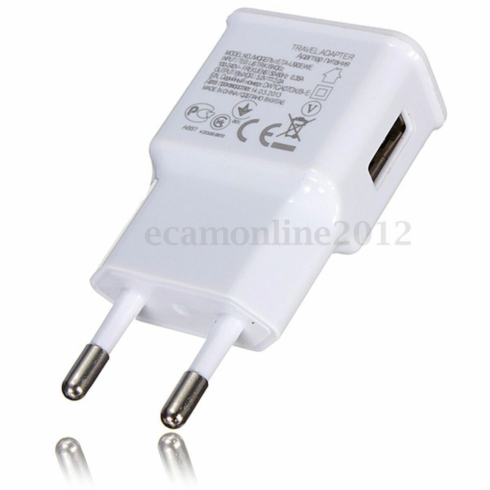 5V 2A USB EU Plug Wall Charger Fast Charging Home Travel