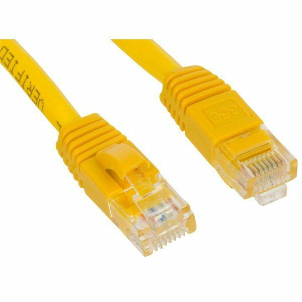 50ft rj45 cat5 cat5e ethernet lan network yellow patch - Cable ethernet 15m ...