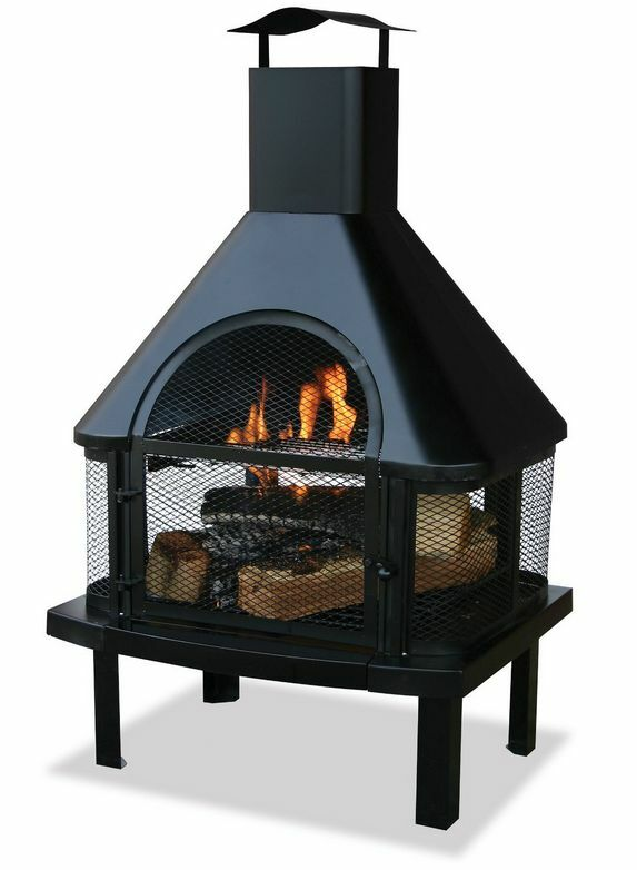 Fire Pit Wood Burning Patio Firepit Deck Chiminea Outdoor