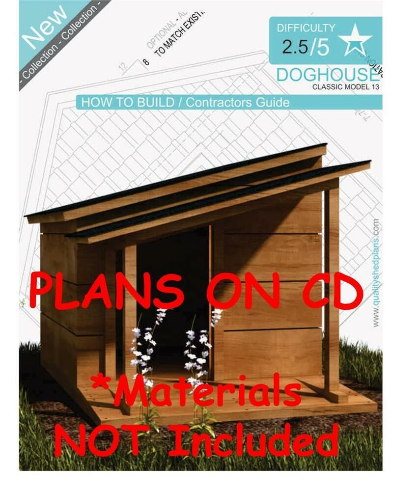 Dog House Plans Step By Step Cad Drawings How To Build