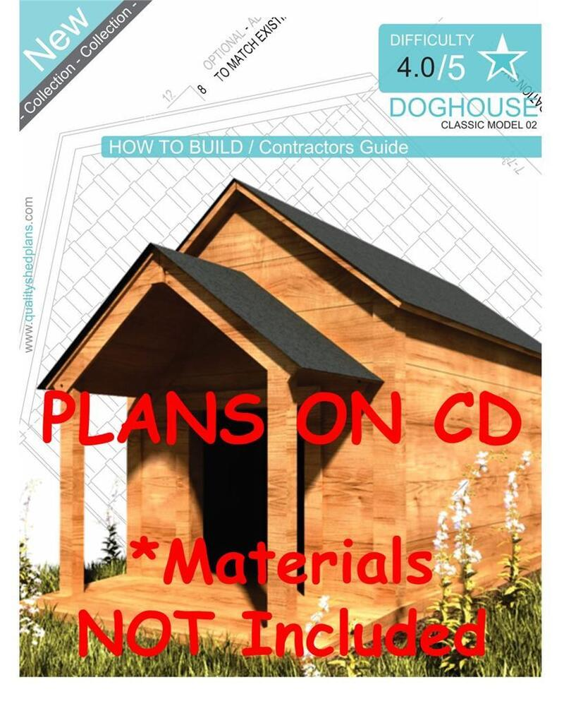 Dog house plans step by step cad drawings how to build for Step by step in building a house