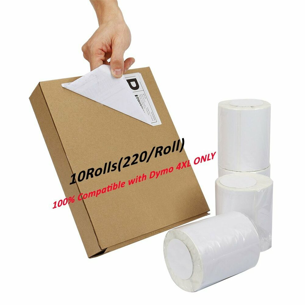 10 rolls dymo 1744907 compatible 4x6 thermal shipping for Dymo 4x6 label printer