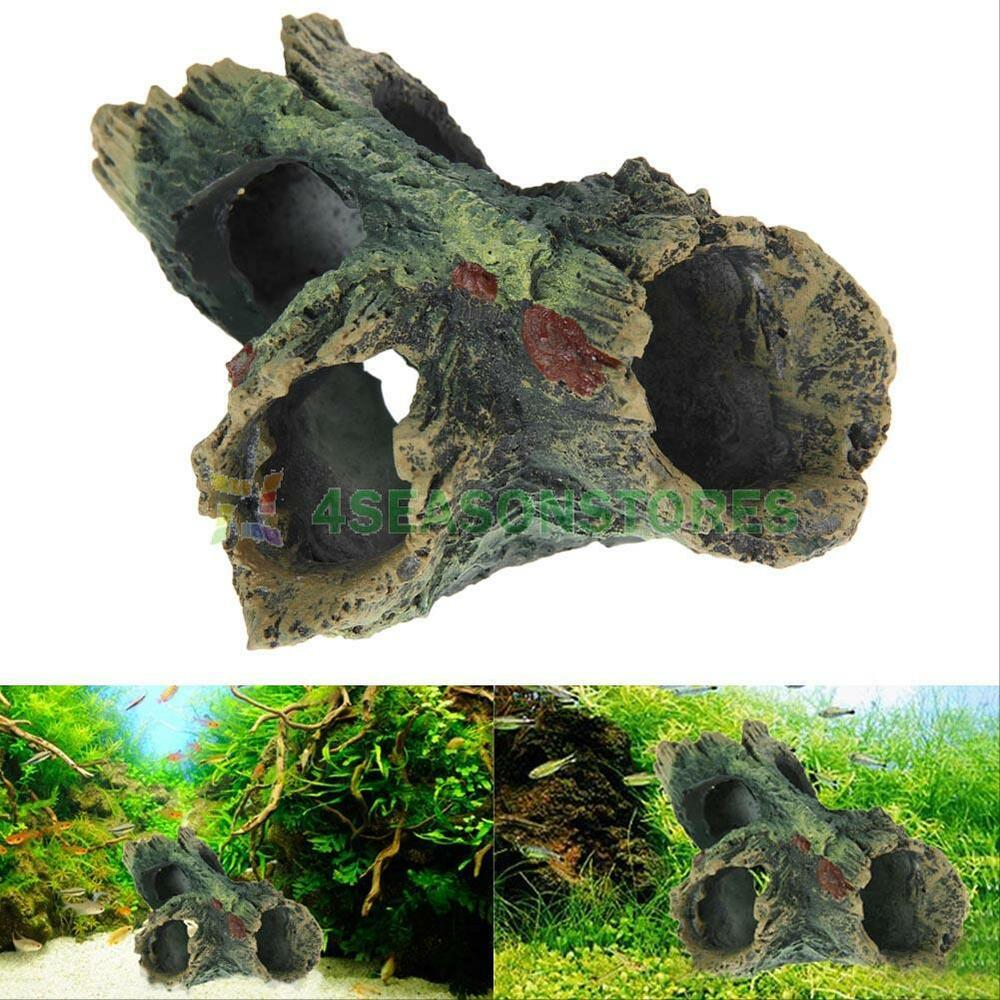 Decaying trunk cave aquarium ornament driftwood decoration for Aquarium cave decoration