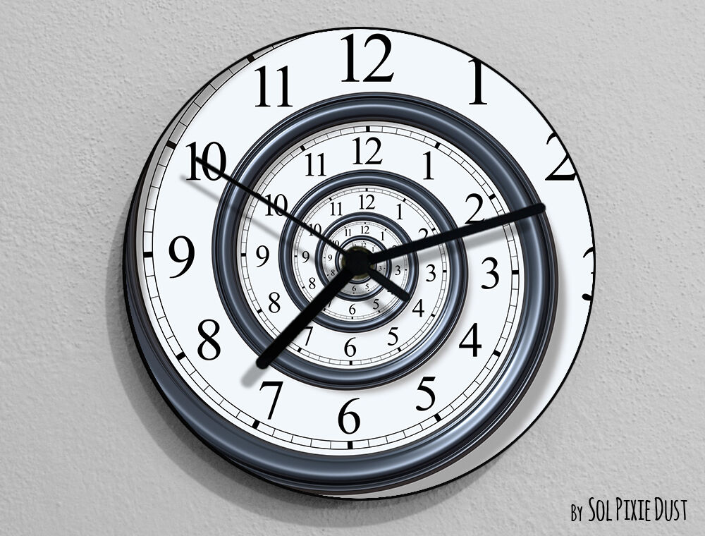 Time Travel Wall Clock Ebay