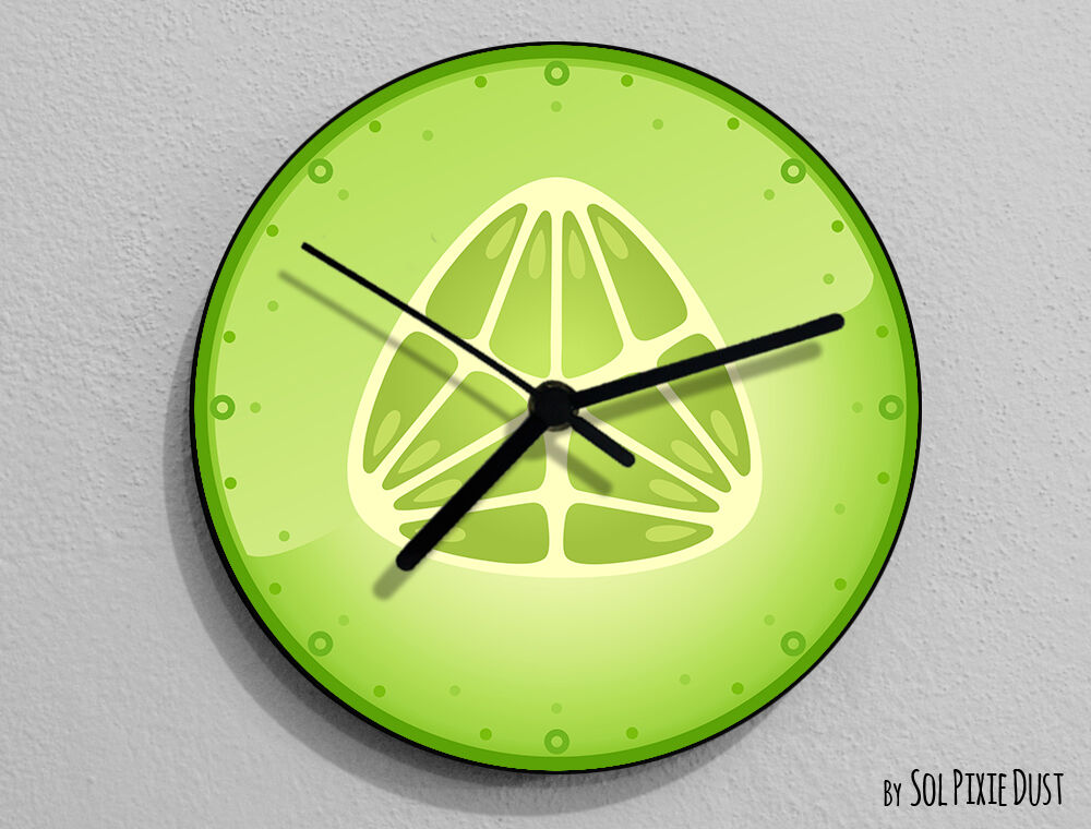 Cucumber fruit wall clock ebay - Mondaine wall clock cm ...