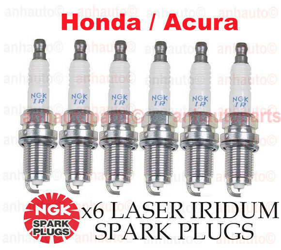 6-PC NGK Laser Iridium Spark Plug Set OEM for Acura/Honda V6-Accord,MDX,TL,RL,CL | eBay