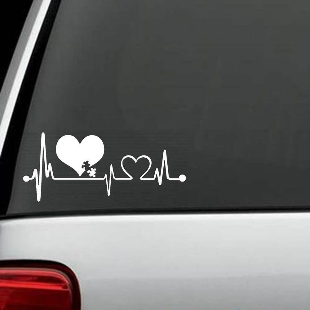 J1053 Autism Heartbeat 169 Lifeline Monitor Screen Decal