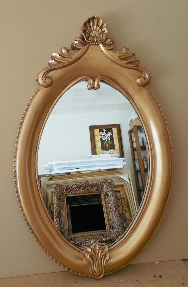 Large Gold Ornate Hard Resin Quot 33x52 Quot Oval Framed Wall