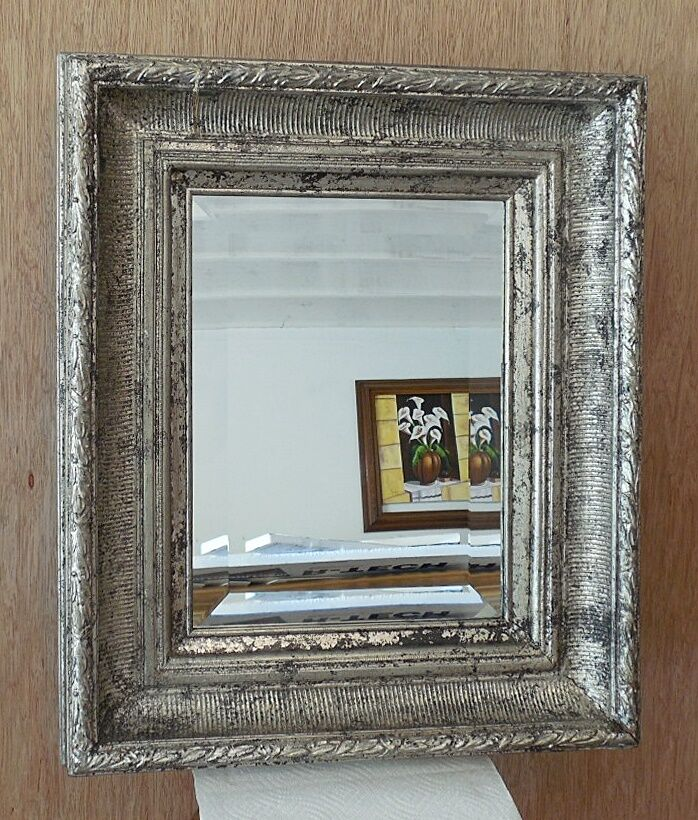 "Large Solid Wood ""21x25"" Rectangle Beveled Framed Wall ..."