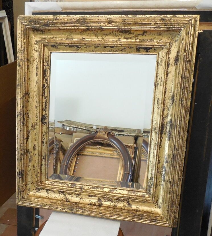 Large Solid Wood u0026quot;26x30u0026quot; Rectangle Beveled Framed Wall Mirror : eBay