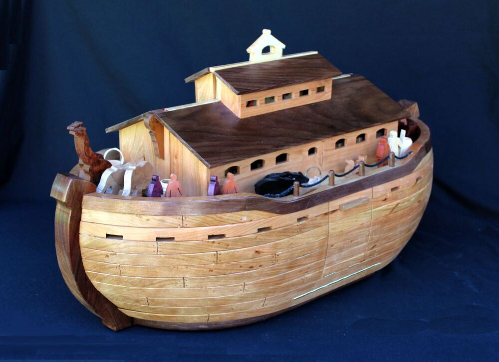 Wood plans for building a detailed Noah's Ark, with dozens of people and animals | eBay