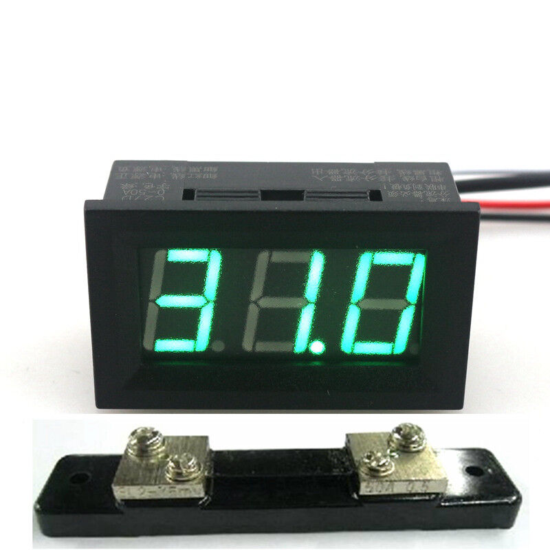 digital dc 50a ammeter ampere panel guage 50a 75mv shunt. Black Bedroom Furniture Sets. Home Design Ideas