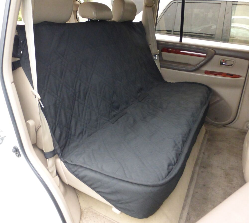 Luxury Quilted And Padded Back Seat Bench Cover One Size Fits All 56 Quot W Black Ebay