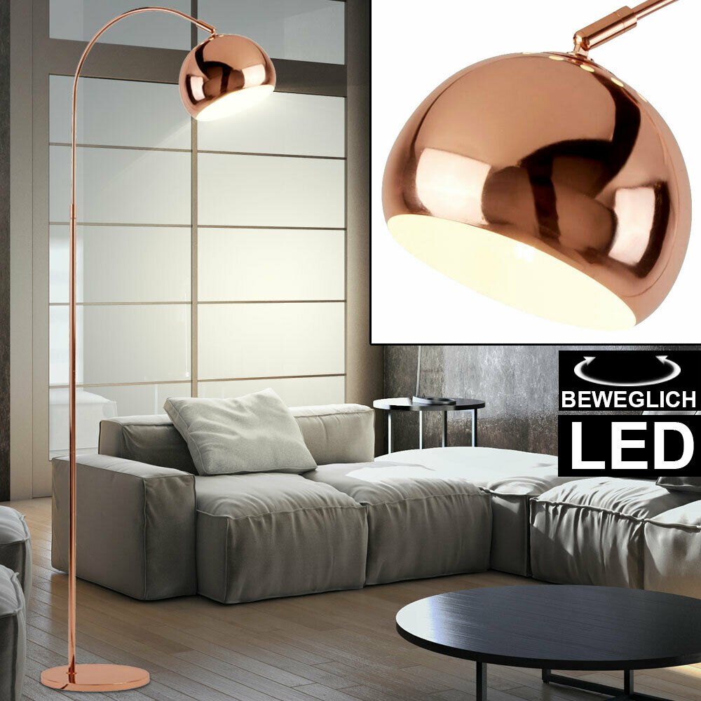 design stehlampe bogenleuchte wohnzimmer led 24 w touchdimmer lxbxh 80x18x160 cm ebay. Black Bedroom Furniture Sets. Home Design Ideas