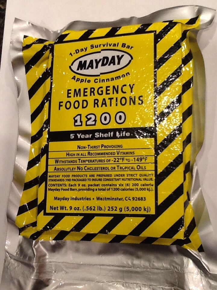 Mayday 1 day survival bar emergency bug out bag survival for Mayday food bar 3600 calories