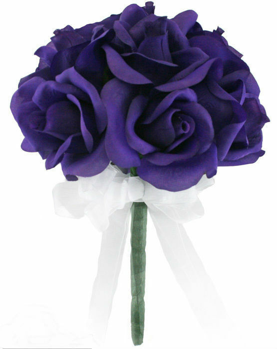 artificial flowers wedding bouquets purple silk toss bouquet bridal wedding bouquet ebay 1380