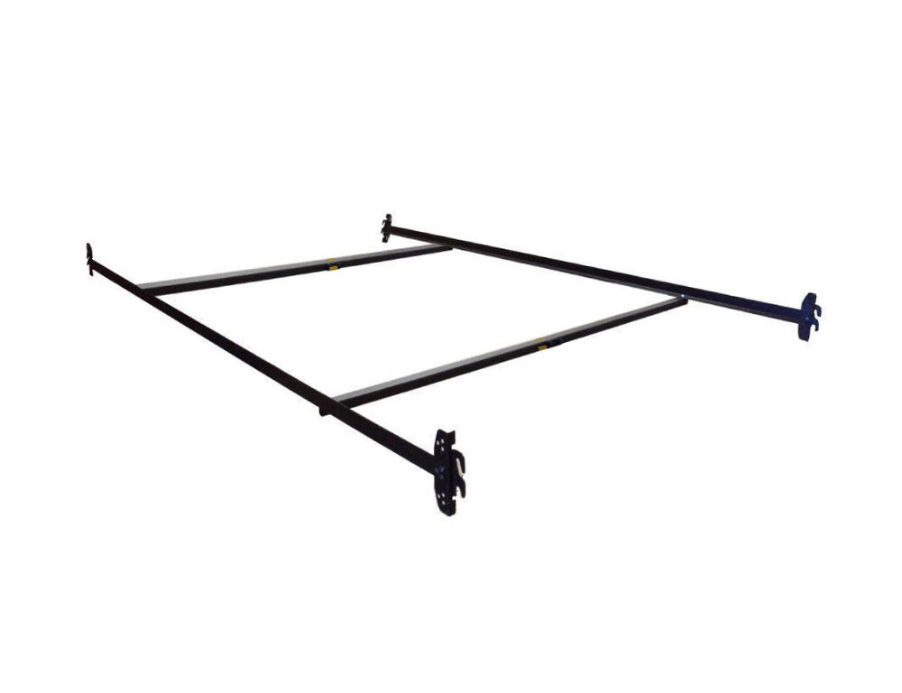 Twin Full Adjustable Hook On Steel Bed Frame With Double