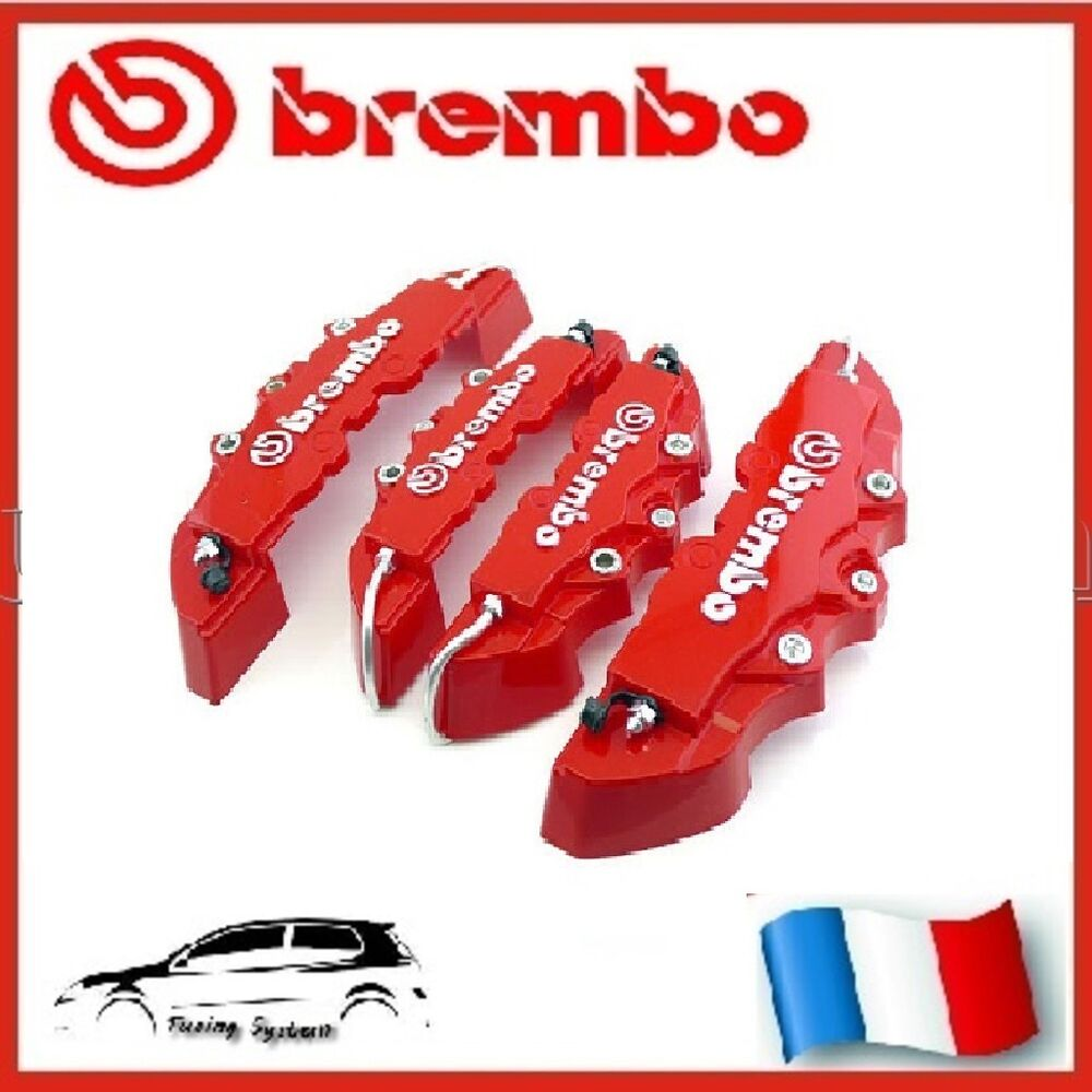 cache etrier de frein brembo 3d universel rouge tuning alfa romeo 147 156 159 ebay. Black Bedroom Furniture Sets. Home Design Ideas