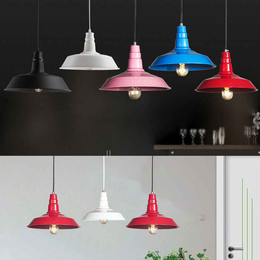 Colors Industrial Pendant Lamp Dining Room Ceiling Fixture