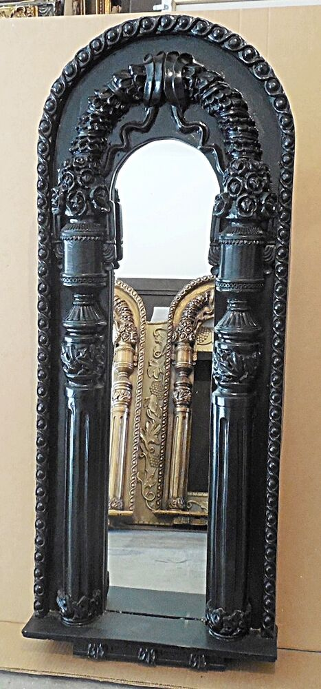Large hard resin 21x51 ornate arch framed wall mirror ebay for Baroque resin mirror