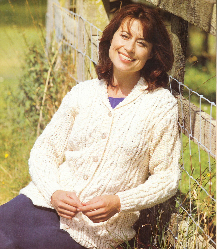 Knitting Pattern For Ladies Cable Cardigan : Knitting Pattern- Ladies- lovely Aran Cable cardigan- fits 32-42 chest eBay