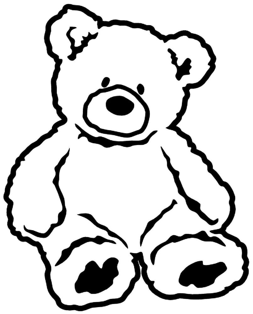 Teddy Bear Vinyl Decal Sticker Car Window Wall Bumper Cute