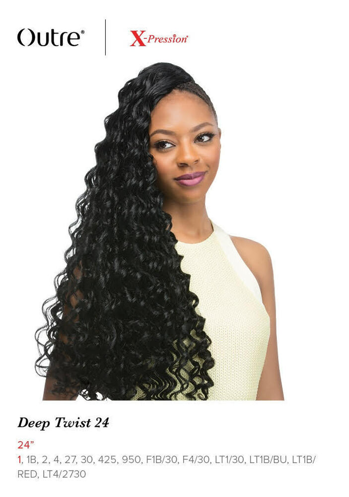 Deep Twist 24 Quot Braid Outre X Pression Synthetic Crochet