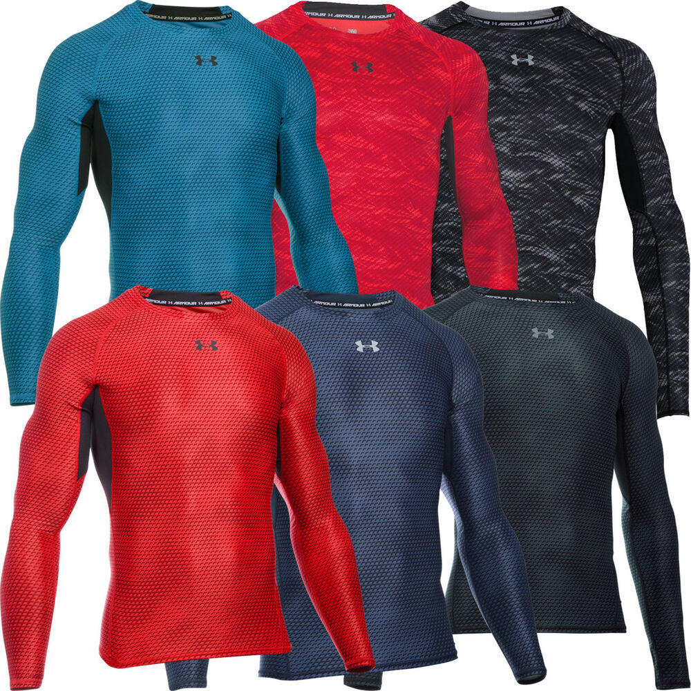 Under armour 2016 heatgear compression armour printed for Printed under armour shirts