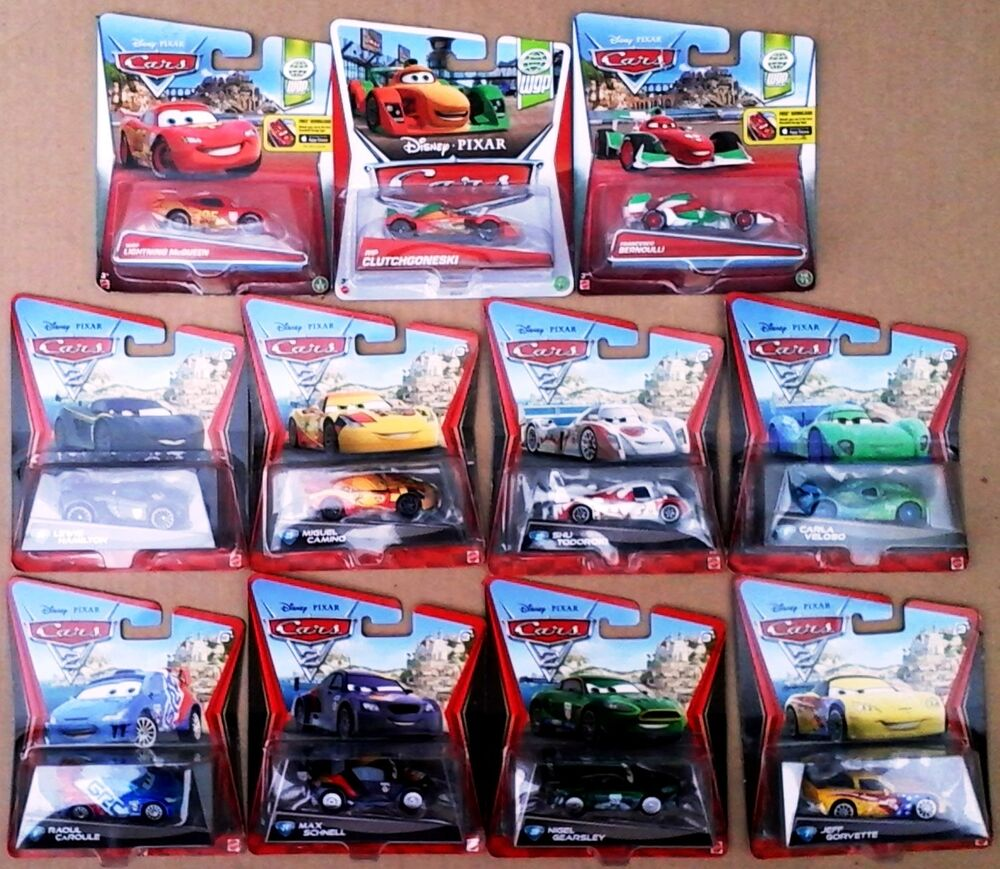 Disney Cars 2 Complete Set Of 11 Racers Rip Lewis Carla