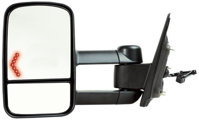 lh heat power fold extend 2lens tow mirror w signal 4 chevy silverado 2014 2015 ebay. Black Bedroom Furniture Sets. Home Design Ideas