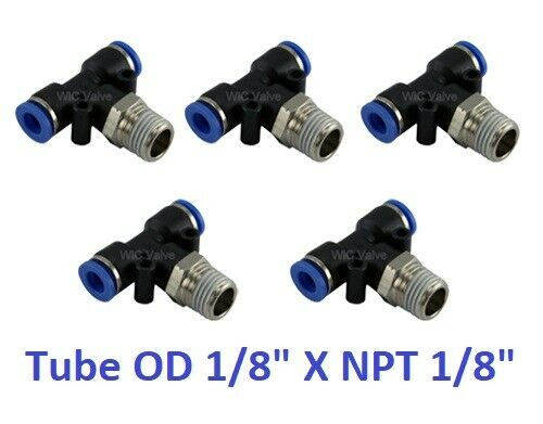 Pcs branch t way connector tube od npt