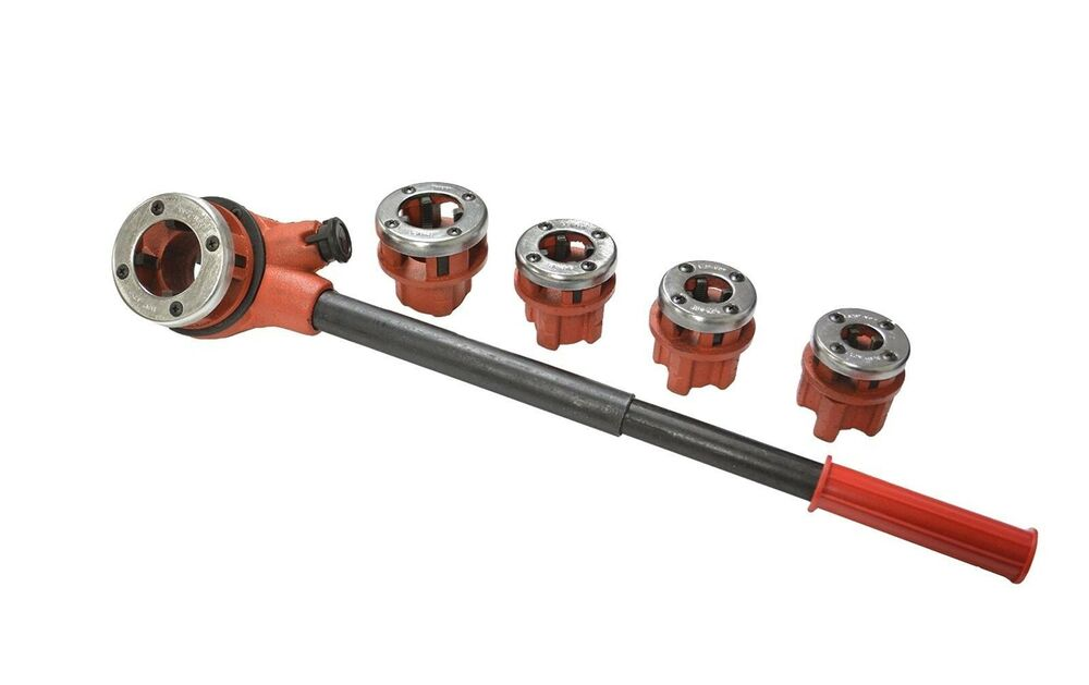 Manual pipe threading die set quot and