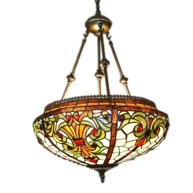 Tiffany Style Hanging Pendant Lamp Chandelier Stained ...