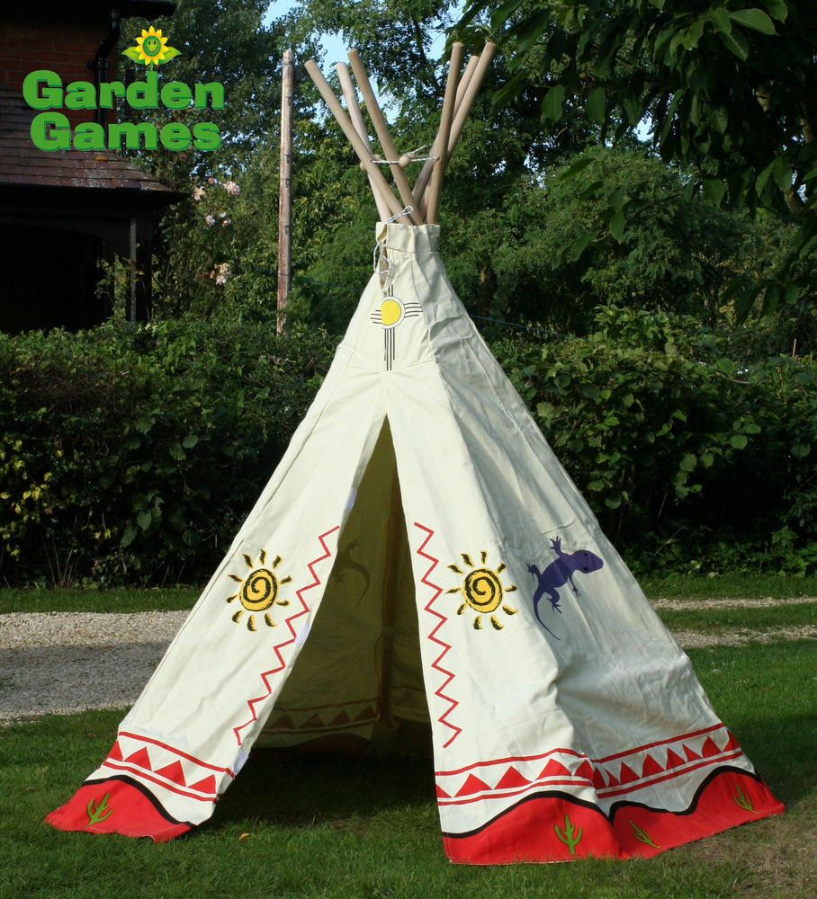 New kids teepee wigwam tent childrens play tent for Tent over house